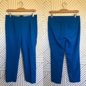J Crew Martie Pants Royal Blue Wool Blend Crop 6